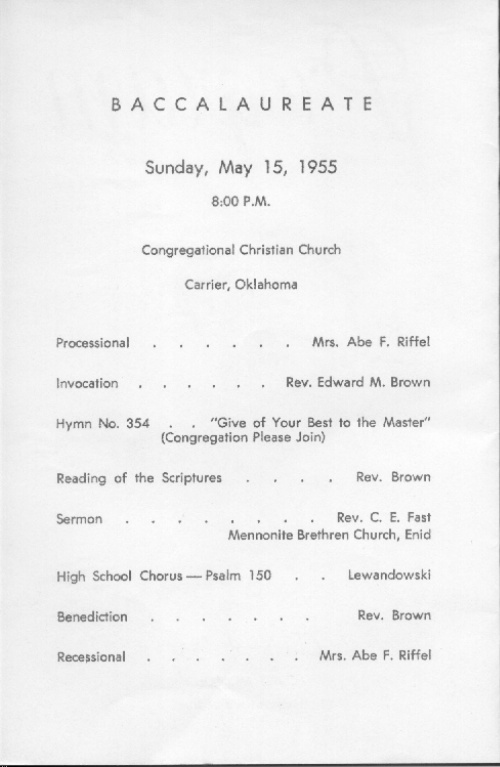 Carrier High School  Graduation Program